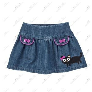 Gymboree Kitty Jean skirt